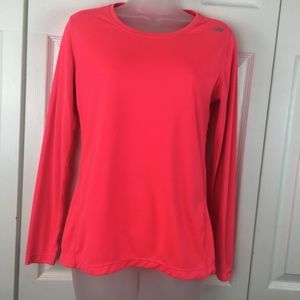 New Balance Neon Pink Long Sleeve Top